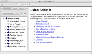 Adapt It Help